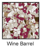 Epoxy Color Chips Wine Barrel