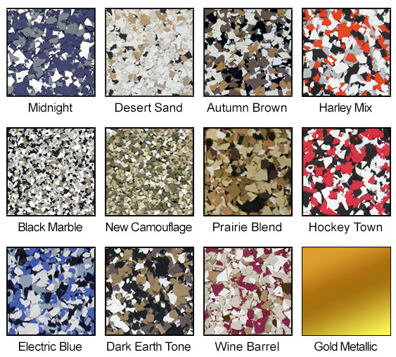 Epoxy Floor Color Chips